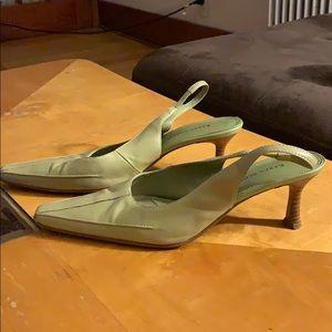 Karen Scott genuine leather green slingbacks 8.5M
